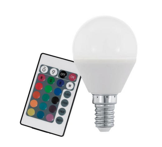 LED-Leuchtmittel E14 - Weiß, Basics, Glas (8cm)
