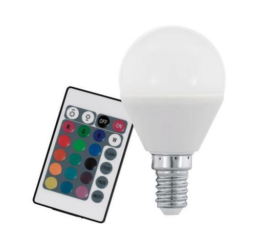 LED ŽARNICA RGB 10682 - bela, Trendi, steklo (8cm)