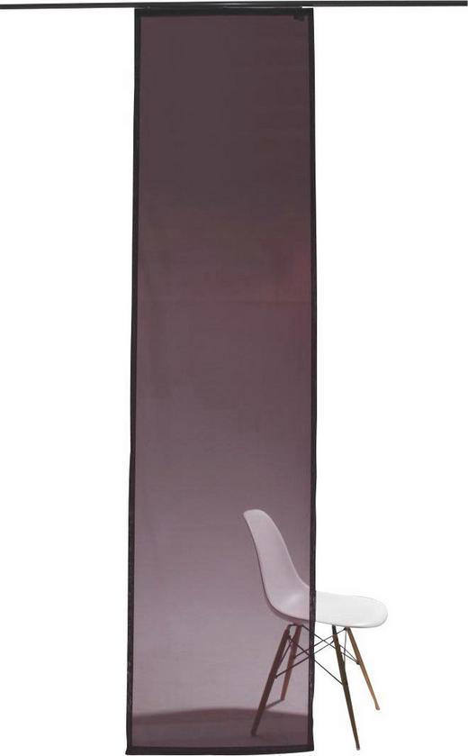 FLÄCHENVORHANG   transparent   60/245 cm - Aubergine, Design, Textil (60/245cm)
