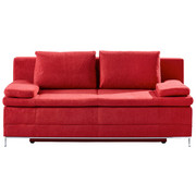 SCHLAFSOFA Bordeaux  - Chromfarben/Bordeaux, Design, Textil/Metall (200/93/93cm) - Novel