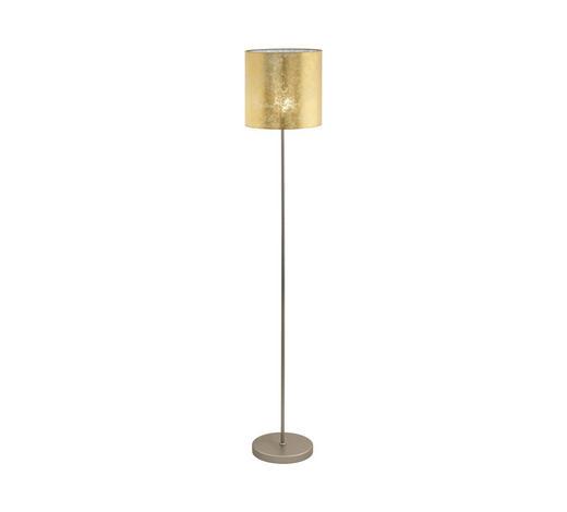 STEHLEUCHTE - Champagner/Goldfarben, KONVENTIONELL, Textil/Metall (28/158,5cm)