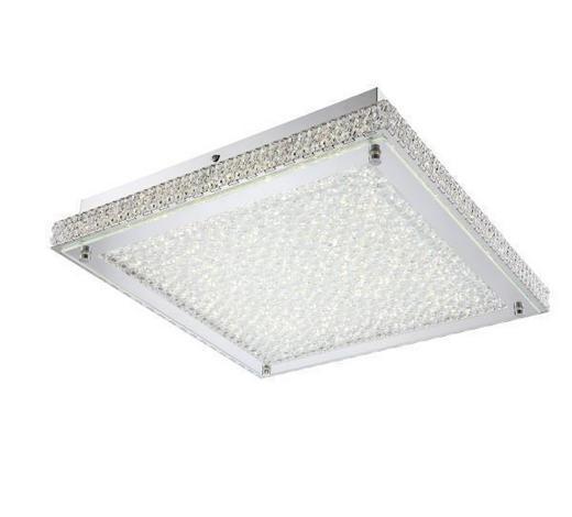 LED-DECKENLEUCHTE - Chromfarben, LIFESTYLE, Glas/Metall (39/39/7,2cm) - Ambiente