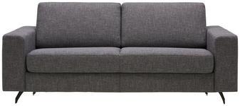 SCHLAFSOFA in Textil Grau, Weiß  - Schwarz/Weiß, MODERN, Textil (200/82/102cm) - Dieter Knoll