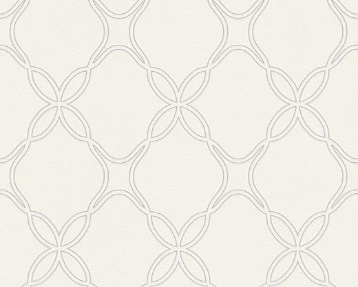 VLIESTAPETE 10,05 m - Creme/Weiß, Design, Textil (53/1005cm)