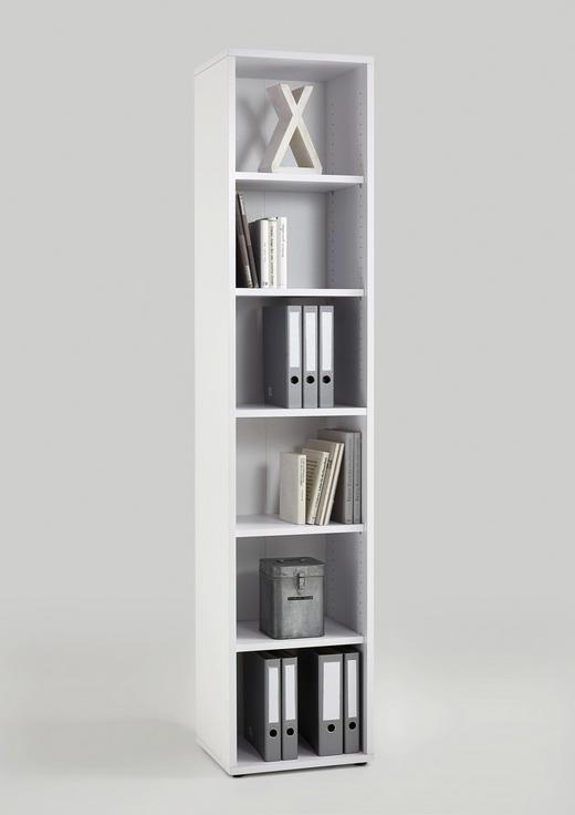 AKTENREGAL Weiß - Weiß, MODERN, Holzwerkstoff (47/221,5/40cm) - Carryhome