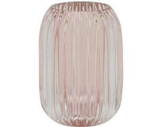 TEELICHTGLAS - Hellrosa, Design, Glas (9,5/13cm)