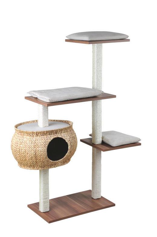 KRATZBAUM - Sandfarben/Grau, Basics, Holz (36/115/130cm)