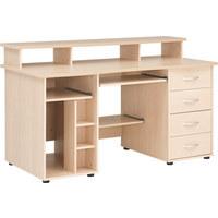 RAČUNALNIŠKA MIZA leseni material barve javorja - barve javorja/srebrna, Design, umetna masa/leseni material (150/91/73cm) - CANTUS