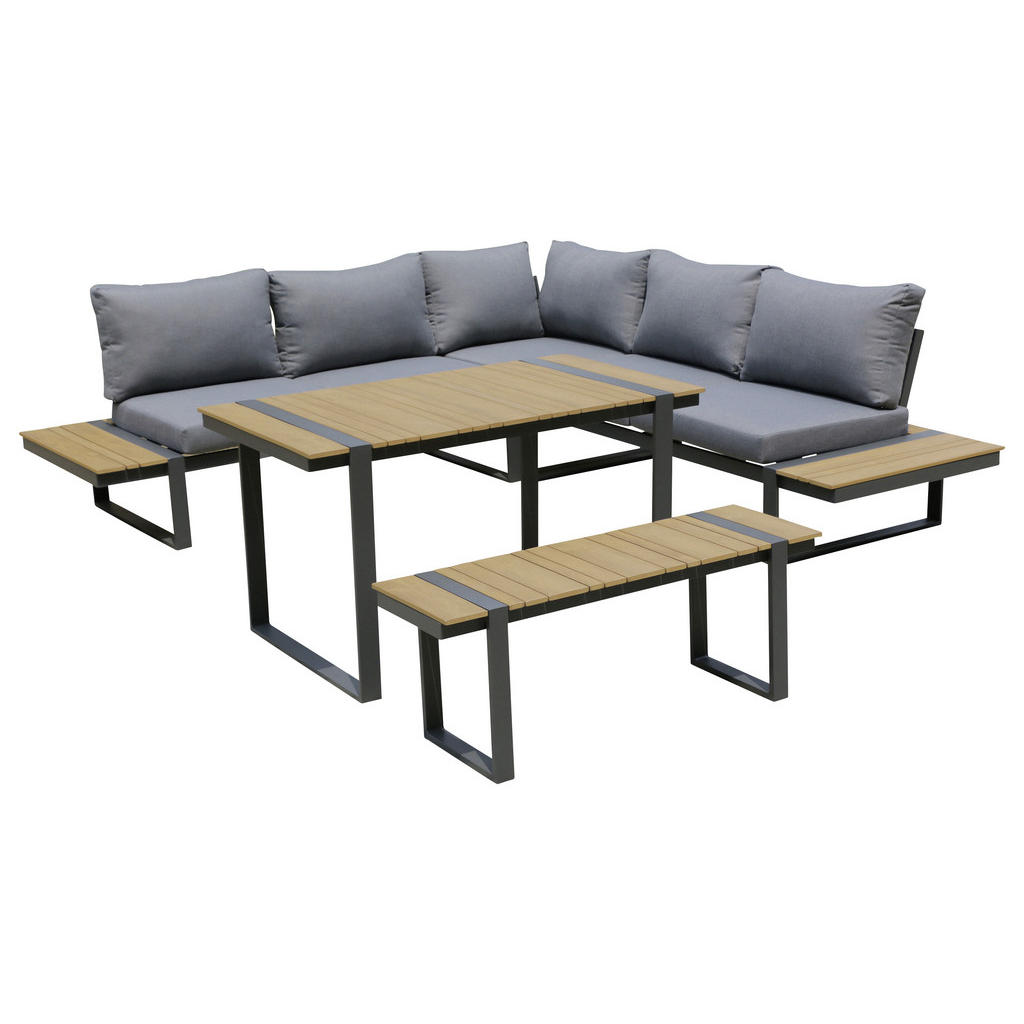 Ambia Garden Dining-loungeset anthrazit