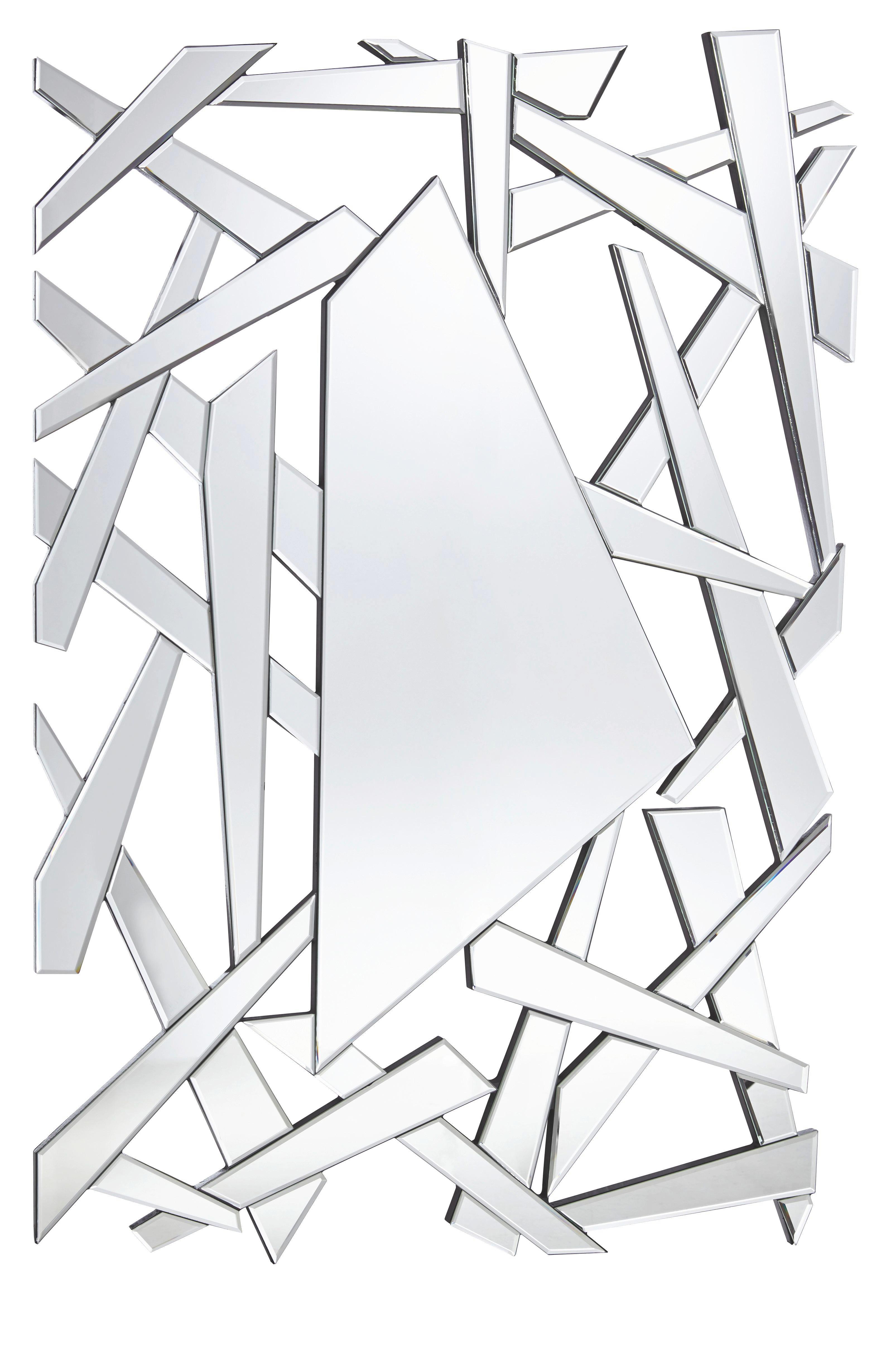 SPIEGEL - Silberfarben, Design (120/80/1,90cm) - XORA