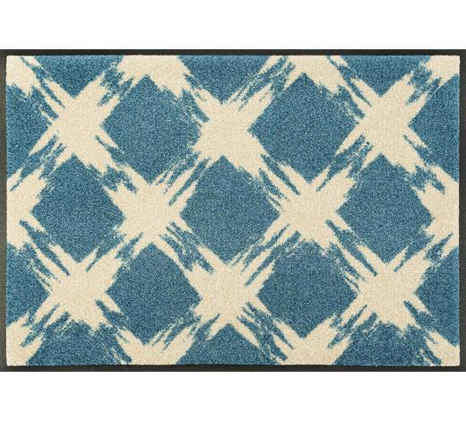 FUßMATTE 50/75 cm Graphik Türkis, Beige  - Türkis/Beige, Basics, Kunststoff/Textil (50/75cm) - Esposa
