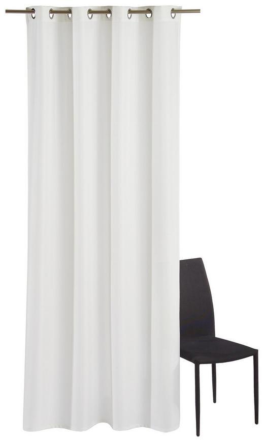 ÖSENSCHAL  blickdicht   140/245 cm - Weiß, Basics, Textil (140/245cm)