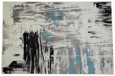 Webteppich Metro 80x150 cm - Blau/Schwarz, KONVENTIONELL, Textil (80/150cm) - Ombra