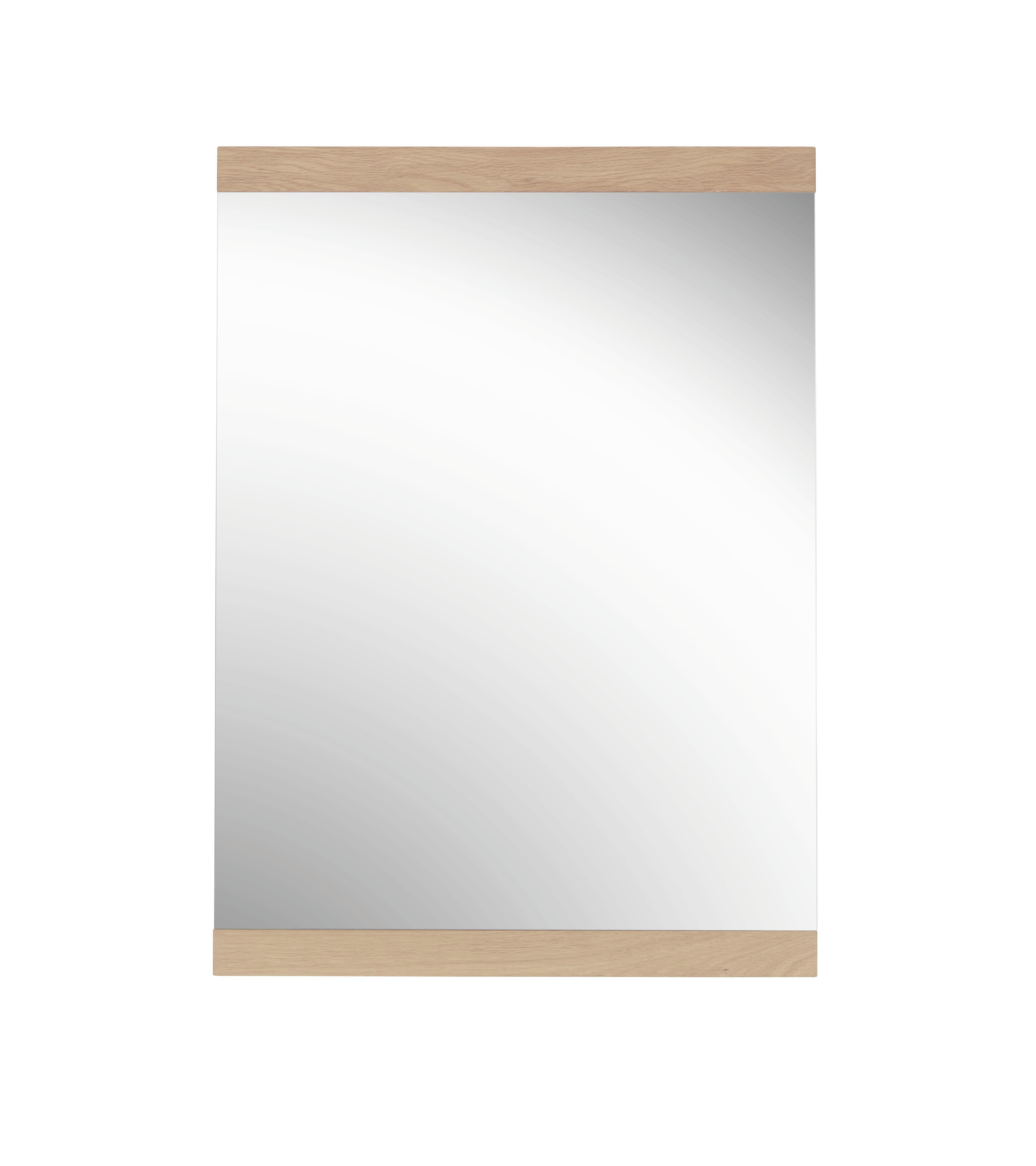 SPIEGEL Eichefarben - Eichefarben, Design, Glas/Holz (58/80cm)