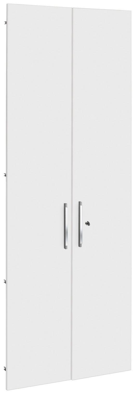 TÜR - Silberfarben/Weiß, KONVENTIONELL, Holzwerkstoff/Kunststoff (75.6/207cm)