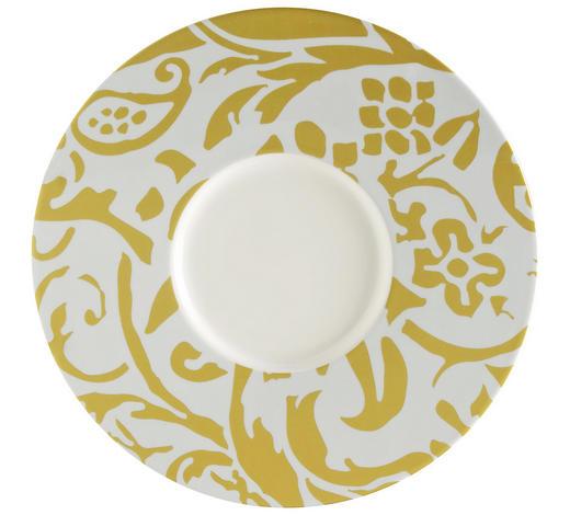 PLATZTELLER  30,2 cm - Gelb/Weiß, Basics, Keramik (30,2cm) - Novel