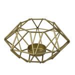 KERZENHALTER - Goldfarben, Design, Metall (13/7cm) - Ambia Home