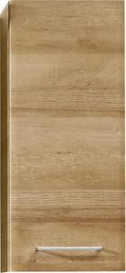 GORNJI ELEMENT ZA KUPAONICU - boje hrasta/boje kroma, Konvencionalno, staklo/drvni materijal (30/70/20cm) - Xora