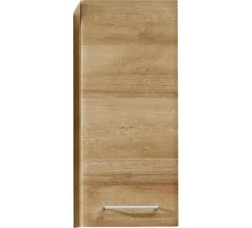 HORNÍ SKŘÍŇKA, barvy dubu - barvy dubu/barvy chromu, Konvenční, kompozitní dřevo/sklo (30/70/20cm) - Xora
