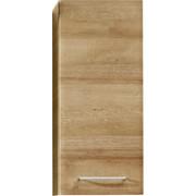 OBERSCHRANK - Chromfarben/Eichefarben, KONVENTIONELL, Glas/Holzwerkstoff (30/70/20cm) - Xora