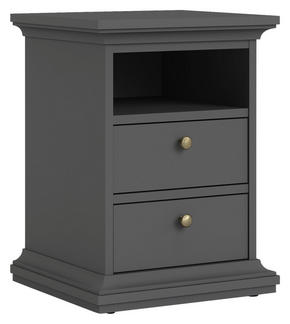 SÄNGBORD - mässingfärg/grå, Design, metall/träbaserade material (43,6/58,8/40cm) - Hom`in