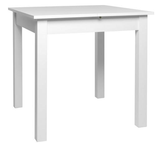 AUSZIEHTISCH in Holzwerkstoff 80/120/80/76,5 cm - Weiß, Basics, Holzwerkstoff (80/120/80/76,5cm) - Carryhome