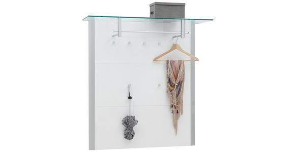 GARDEROBENPANEEL 112/117/33 cm  - Alufarben/Weiß, Design, Glas/Holzwerkstoff (112/117/33cm) - Dieter Knoll
