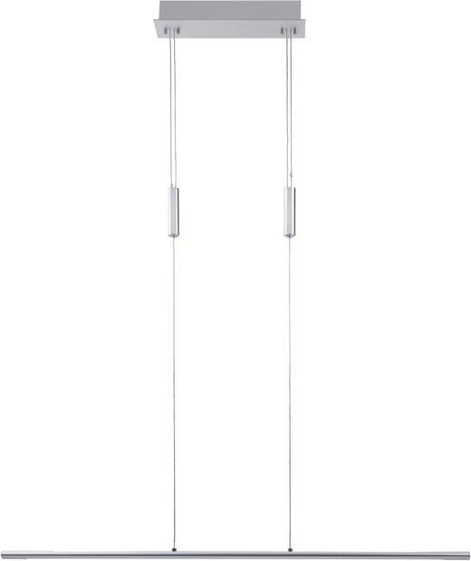 LED-HÄNGELEUCHTE - Chromfarben/Alufarben, Design, Kunststoff/Metall (100/8/140cm) - Ambiente