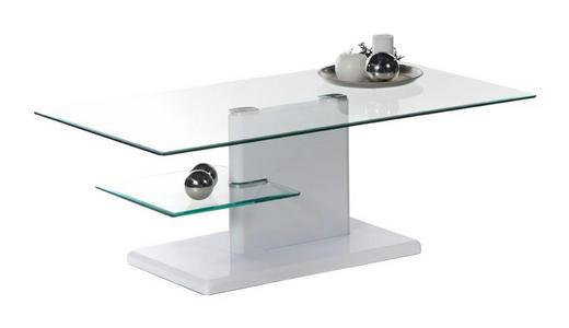 COUCHTISCH rechteckig Weiß - Weiß, Design, Glas (110/60/42cm) - Carryhome