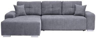 WOHNLANDSCHAFT in Textil Blau, Grau  - Blau/Silberfarben, MODERN, Kunststoff/Textil (194/280cm) - Carryhome