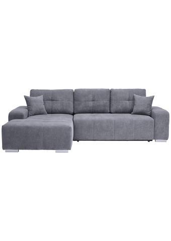 WOHNLANDSCHAFT in Textil Grau - Silberfarben/Grau, MODERN, Kunststoff/Textil (194/280cm) - Carryhome