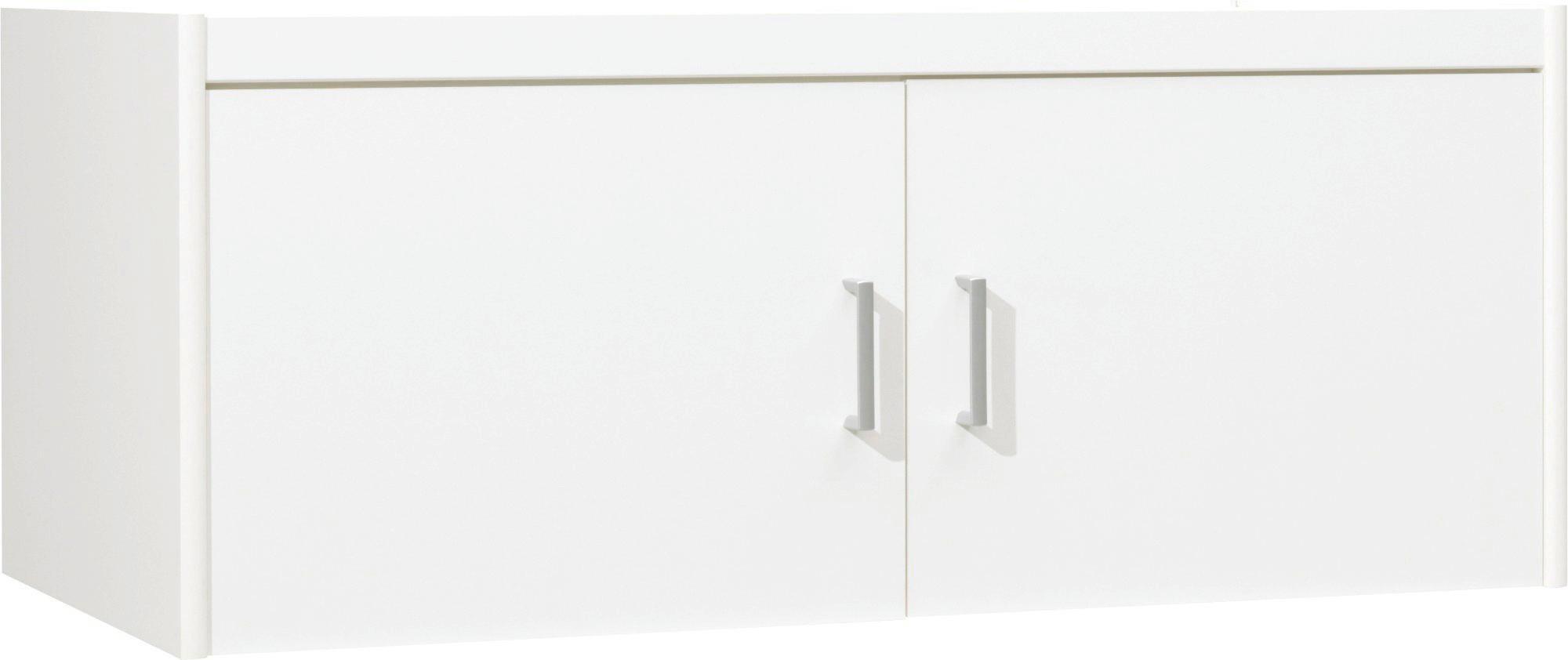AUFSATZSCHRANK 106/43/54 cm Weiß - Silberfarben/Weiß, Design, Kunststoff (106/43/54cm) - CS SCHMAL
