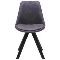 ŽIDLE, textil, černá, šedá, - šedá/černá, Design, kov/dřevo (49/87,5/56cm) - Carryhome