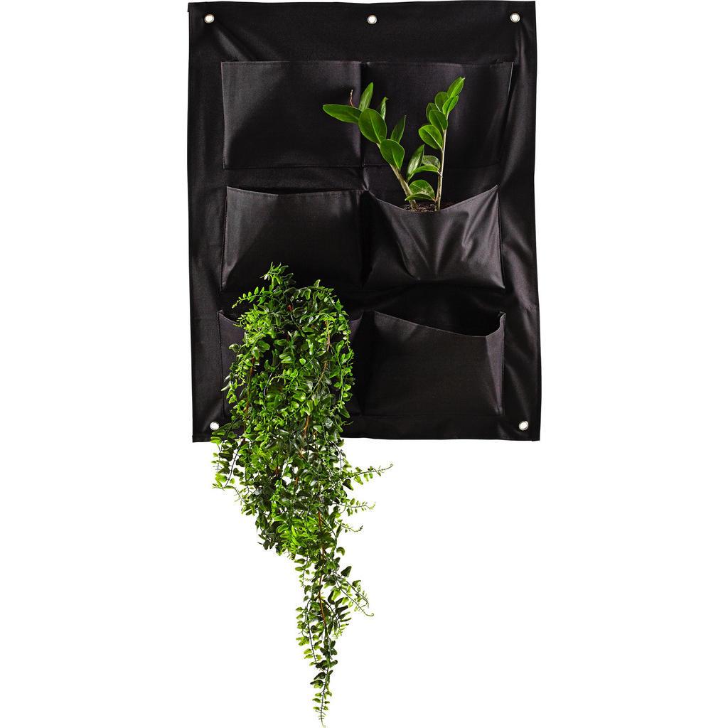 Wandtasche für Pflanzen mit 6 Pflanzbereichen