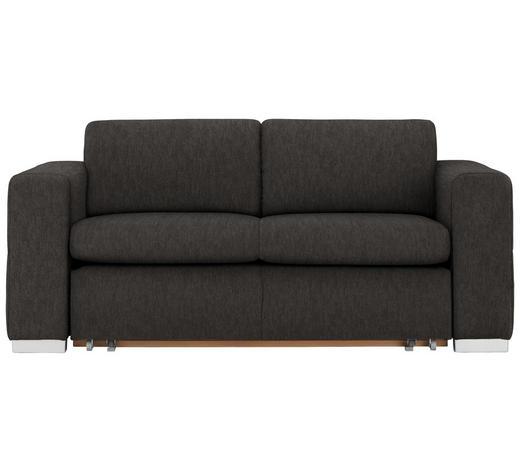 SCHLAFSOFA in Textil Braun - Silberfarben/Braun, KONVENTIONELL, Kunststoff/Textil (190/83/98cm) - Carryhome