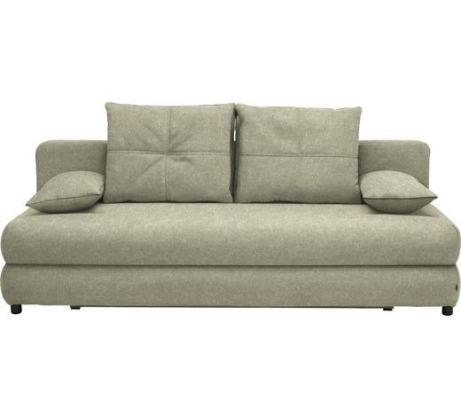 SCHLAFSOFA in Textil Beige - Beige/Schwarz, Design, Kunststoff/Textil (208/73-90/102cm) - Hom`in