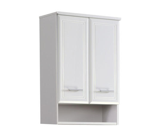 HÄNGESCHRANK Weiß  - Silberfarben/Weiß, KONVENTIONELL, Holzwerkstoff/Kunststoff (50/71/20cm) - Carryhome