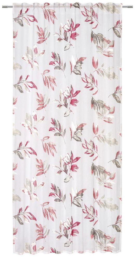 FERTIGVORHANG  halbtransparent  140/245 cm - Rot/Grau, Design, Textil (140/245cm) - Esposa