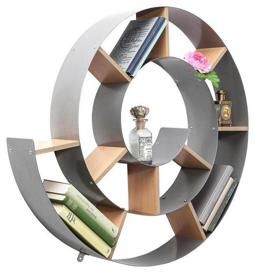 WANDREGAL Naturfarben, Silberfarben - Silberfarben/Naturfarben, Trend, Holzwerkstoff/Metall (75/75/13cm) - Kare-Design