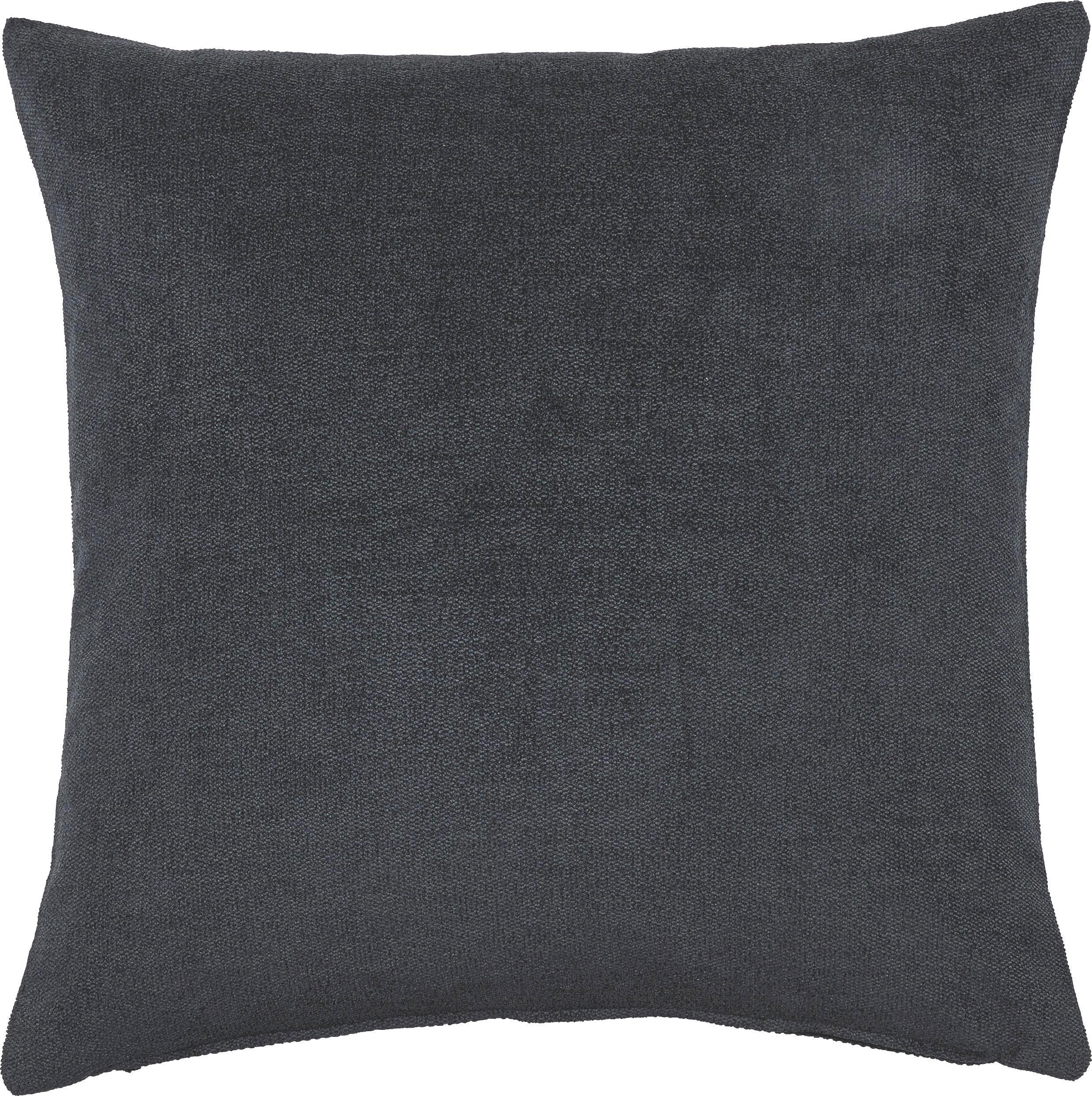 KISSENHÜLLE Schwarz 50/50 cm - Schwarz, Basics, Textil (50/50cm)