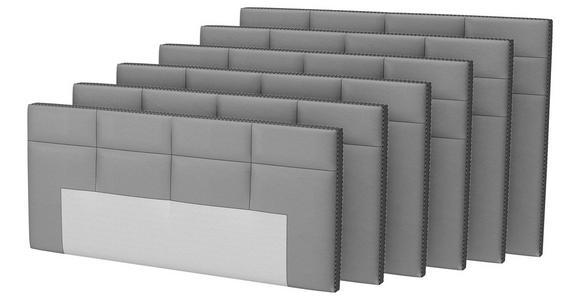 BOXSPRINGBETT Flachgewebe 180/200 cm  INKL. Matratze, Topper - Schwarz/Alufarben, KONVENTIONELL, Textil/Metall (180/200cm) - Dieter Knoll