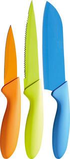 MESSERSET 3-teilig - Blau/Hellgrün, Basics, Kunststoff (28,5cm)