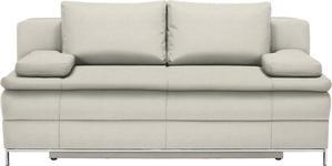 BOXSPRINGSOFA in Textil Naturfarben  - Chromfarben/Naturfarben, Design, Textil/Metall (200/93/107cm) - Novel
