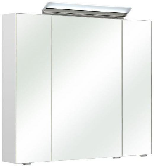 SPIEGELSCHRANK Weiß - Weiß, KONVENTIONELL, Glas/Holz (80/70/16cm) - Xora