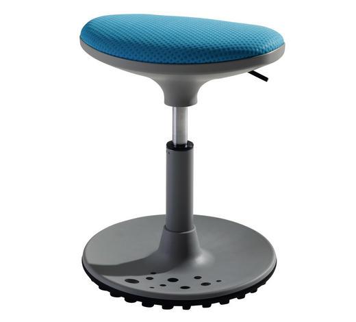 HOCKER in Metall, Kunststoff, Textil Blau, Grau - Blau/Grau, Design, Kunststoff/Textil (38/38-48/27,5cm) - Paidi