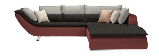 WOHNLANDSCHAFT in Textil Grau, Altrosa - Chromfarben/Hellgrau, Design, Textil/Metall (300/220/cm) - Hom`in