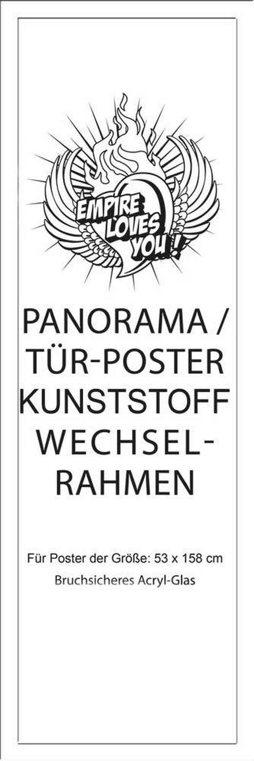 BILDERRAHMEN in Weiß - Weiß, KONVENTIONELL, Kunststoff (60/165/2cm)