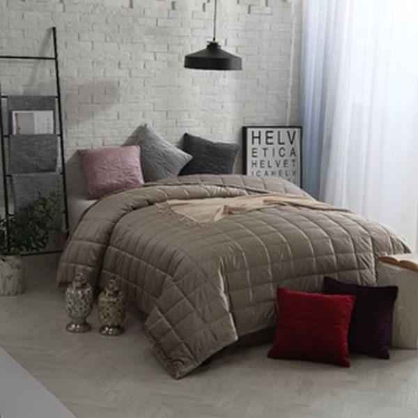 SÄNGÖVERKAST - mörkgrå, Design, textil (160/260cm)