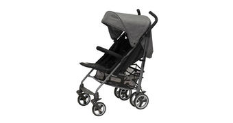 BUGGY Tingle - Schwarz/Grau, KONVENTIONELL, Textil/Metall (78/50/106cm) - Jimmylee