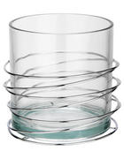 SVIJEĆNJAK ČAŠA - boje srebra/prozirno, Basics, staklo/metal (16,8/15,4cm) - Ambia Home